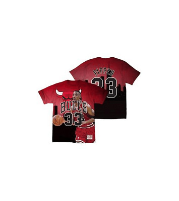 Camiseta Mitchell & Ness Hombre City Pride Pippen Red BMTRKT18007-CBURED
