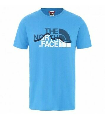 Camiseta Hombre The North Face Mount Line Azul NF00A3G2W8G1