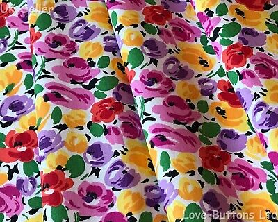 Rose /& Hubble 100/% cotton Poplin Yellow Tropical Toucan fabric half//full mtr FQ