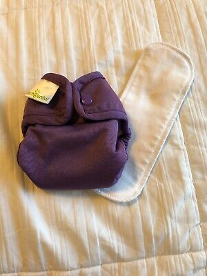 Bumgenius 2.0 Cloth Diaper With Snaps And Doubler - Newborn NB XS - Jelly Purple