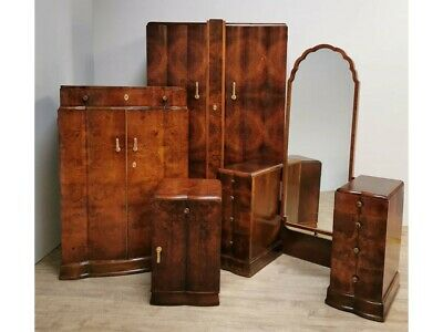 Art Deco Walnut Bedroom Suite