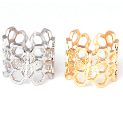 Plated Gold Silver Rings Accessories Hollow Finger Bee 1pc Engagement Wedding IT