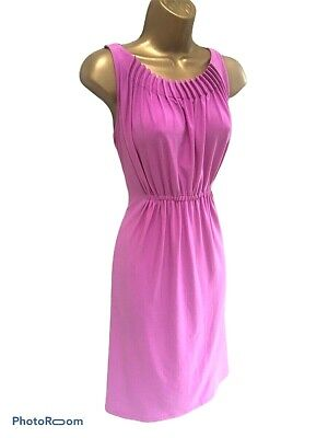 Marks & Spencer M&S Autograph Pink Heather Dress Stretch Sleeveless UK 10