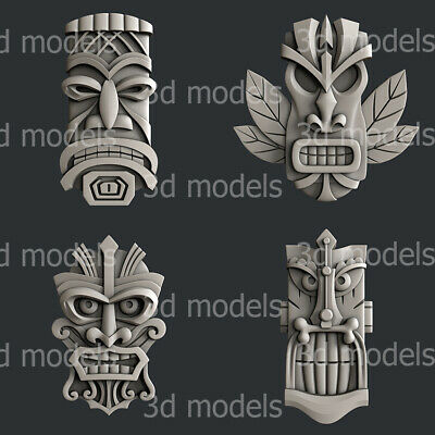 3d STL models for CNC, Artcam, Aspire, relief totem set2