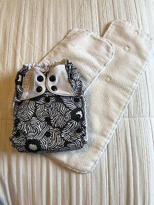 Bumgenius 4.0 One Size OS Pocket Cloth Diaper W/ Inserts Limited Edition Marie