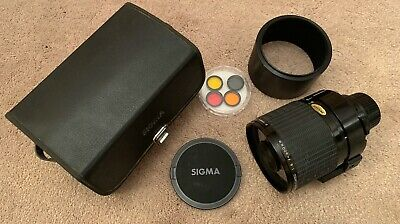 SIGMA 600mm Telephoto Mirror Lens filters And Case