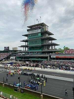 2 Indy 500 Tickets Paddock Press Penthouse FRONT ROW Start/Finish Line!