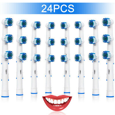 24 Toothbrush Heads Replacement  Compatible With Oral-B Electric Tooth Brush UK1