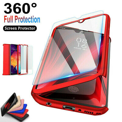 For Samsung Galaxy A10e A20 360°Shockproof Case Cover +Tempered Glass Protector