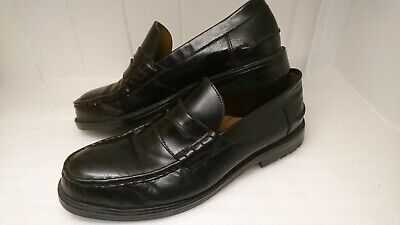 Vintage LOTUS Mens Gents Black Leather Slip On Smart Shoes Size UK 9 England.