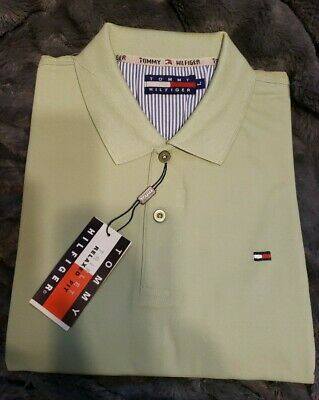 Tommy Hilfiger NWT Men/'s Classic Fit Solid Mint Green Basic SP Polo Shirt SMALL