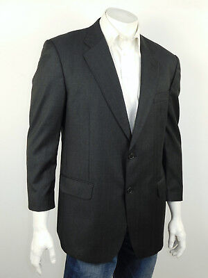 BROOKS BROTHERS Gray w Red Stripes LORO PIANA Super 110's Wool Suit Jacket 43S