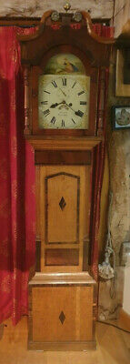 ANTIQUE 19th CENTURY ENGLISH GRANDFATHER CLOCK