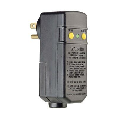 Leviton 15 Amp Compact Right Angle Plug-In GFCI, Black  R51-16693-THD