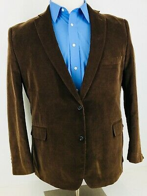 52R NWOT Stafford Classic Fit Mens 2 Button Corduroy Sport Coat Chestnut Brown