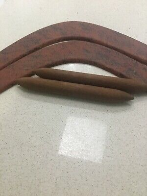 2 Boomerangs And 2 Clap Sticks From Laura Qld.