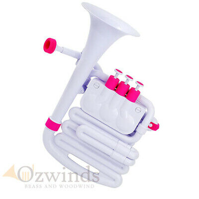 Nuvo Jhorn - Mini Brass (Abs) Instrument, Pink And White
