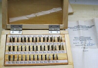 Precision Metric Gauge Block class 1 SET 43 pcs 0.3-0.9 mm.
