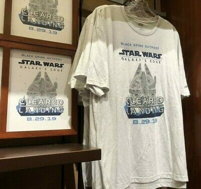 Disney AP TShirt Star Wars Galaxys Edge Opening Day Disneyland Sizes L XL XXL