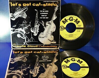"""Lot of (2) SAM """"The Man"""" TAYLOR / CLAUDE CLOUD 45 MGM EP 1954 EP's x1126 & x1127"""