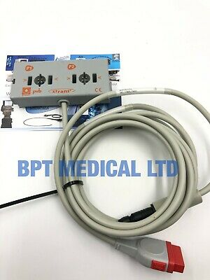 GE Datex BP cable P1 P2 xtrans pvb REF 75.2091.00 IBP ADAPTER CABLE - PVB XTRANS