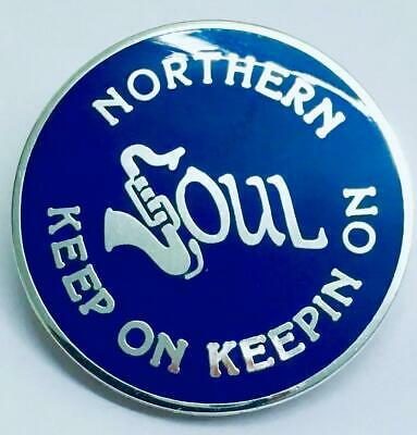 SILVER PLATE NORTHERN SOUL BADGE STOKE THE TORCH CLASSIC SOUL CLUB