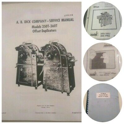 AB Dick Service Reference Offset Press Manuals x4