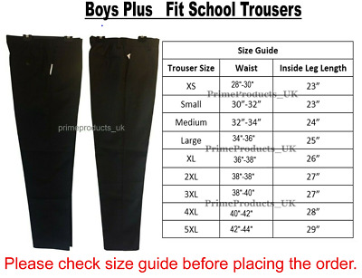 Boys Extra Sturdy Plus Fit Stain Resistant School Uniform Short Length Trouser
