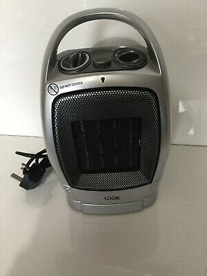 Logik Ceramic Fan Heater. Model L15CFS10, Grey colour, New