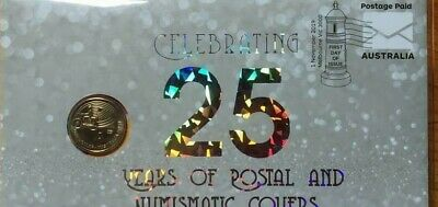2019 $1 PNC..CELEBRATING 25 YEARS OF POSTAL and NUMISMATIC COVERS..AS ISSUED.