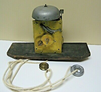 Antique English Tall Case Grandfather Clock Movement W/ Bell Early 1800 30 Hour