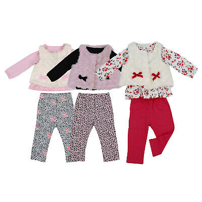 Baby Girl's Clothing Set Floral Tops+Red Pants+White Vest Kids Clothes Sets K4P2