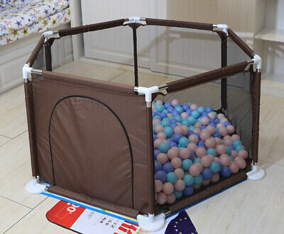 6 Sided Baby Playpen-Baby Play Fence-Come With 30pcs Ocean Ball
