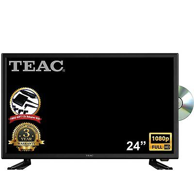 "TEAC 24"" Full HD TV DVD Combo MPEG4 USB Recording 12V for Caravan/Boat FREE GIFT"
