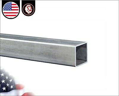"1-1/4"" x 1-1/4"" Galvanized Square Steel Tube - 16 gauge - 60"" inches long (5-ft)"