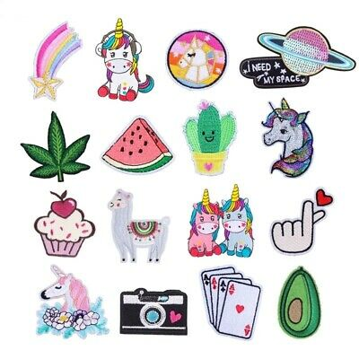 Unicorn Patch Mini Heart Card Camera Cupcake Horse Iron On Sewing Embroidered