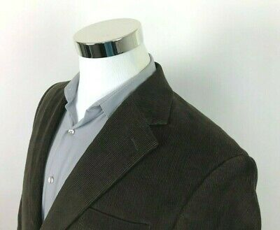 Chaps Ralph Lauren Brown Corduroy Sport Coat 2 Button Blazer Jacket Mens 40 S R