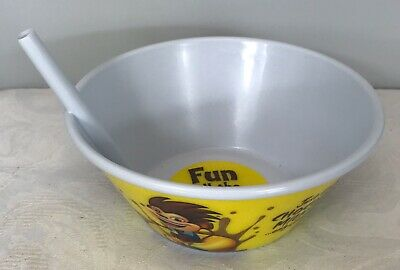 Kelloggs Coco Pops Plastic Cereal Bowl With Built In Straw