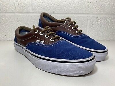 Vans Blue Canvas & Leather Off the Wall Trainer Shoes Pumps Size UK 5 Worn Once.