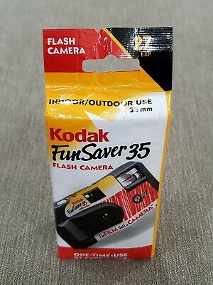 Kodak Fun Saver 35mm film Flash Camera with expired film. Good for lomography.