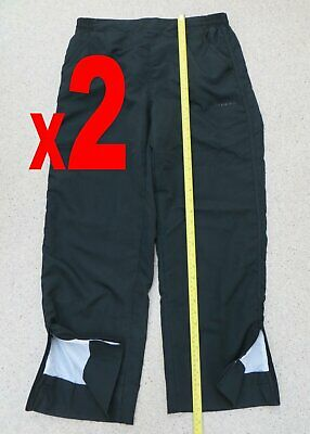 2 Pairs La Gear Walking Trousers Black Rain Resistant Size 10 Sport Elasticated