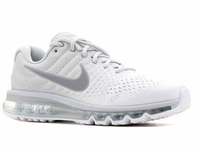 Nike Air Max 2017 White Wolf Grey Platinum Men's Running Shoes 849559 009 ALL SZ