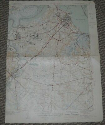 South Amboy, New Jersey USGS Topographic Map 1941 15 Minute Series