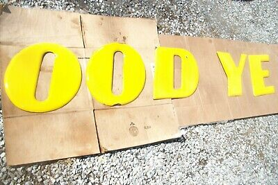 'GOOD YEAR' Porcelain Sign Letters Partial Set