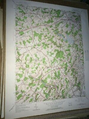 Media Pa. Delaware Co Old USGS Topographical Geological Survey Quadrangle Map