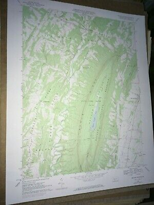 Meadow Grounds PA. Fulton USGS Topographical Geological Survey Quadrangle Map