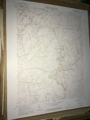 McIntyre PA. Indiana Co Old USGS Topographical Geological Survey Quadrangle Map
