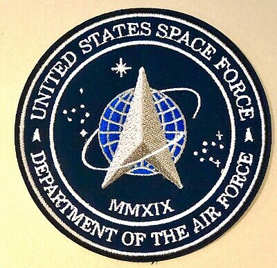 """US SPACE FORCE PATCH 3.5"""" Iron On USA Military Department Of The Air Force NEW!!"""