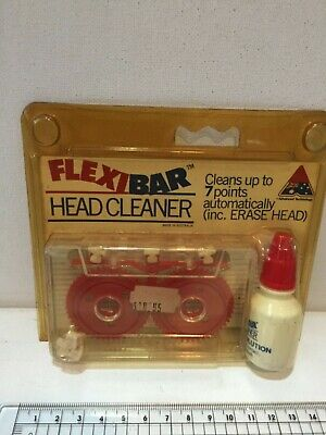FLEXIBAR  Audio Accesories Tape Cassette Headcleaner KIT+Cleaning Fluid Unopened