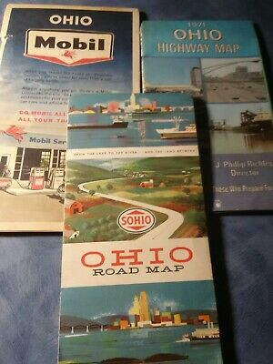 3 old Ohio maps.